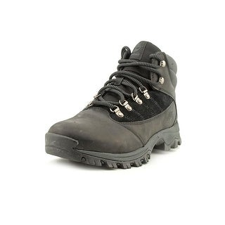 Timberland Rangeley Mid Men Round Toe Leather Black Hiking Boot