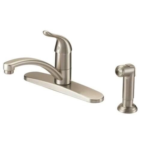 "Mintcraft 67534-1004 Kitchen Faucet, 1 Handle, 8"", Brushed Nickel"