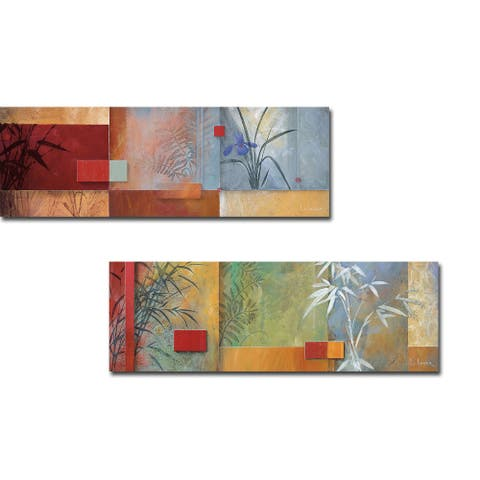 Niki's Spa & After the Spa by Don Li-Leger 2-pc Gallery Wrapped Canvas Giclee Set (12 in x 36 in Each Canvas in Set)