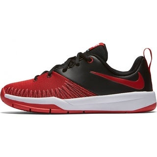 Boy's Nike Team Hustle D 7 Low (GS) Basketball Shoe Black/White/University Red Size