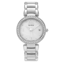 Citizen Women's Stainless Steel EO1100-57A 'Eco Drive Diamond Accent Bracelet Watch