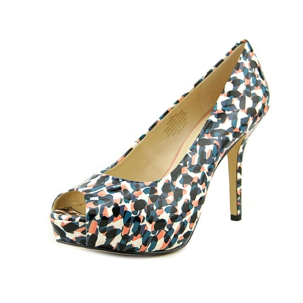 Nine West QTPie Women Open Toe Synthetic Multi Color Platform Heel