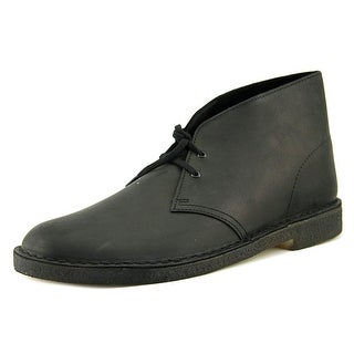Clarks Originals Desert Boot Men  Round Toe Leather Black Desert Boot