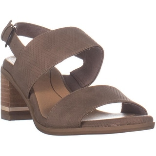 Dr. Scholl's Sure Thing Block Heel Sandals, Taupe - 7.5 US / 37.5 EU