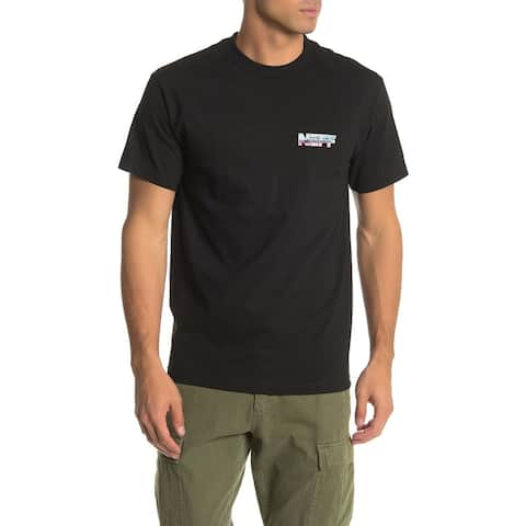 Neff Men's T-Shirt Black Size Small S Graphic Tee Megaforce Logo