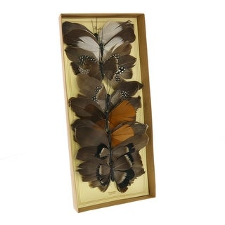 Link to Feather Butterfly Accent Decor with Clips, Assortment of 8, Brown Similar Items in Accent Pieces