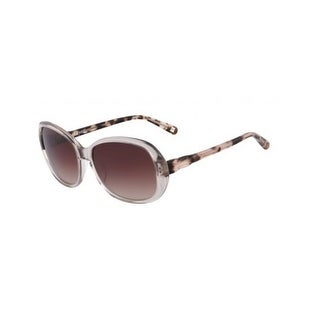 Nine West Womens Rectangle Sunglasses Gradient Oversized - blush/tortoise - o/s