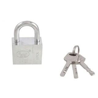 Unique Bargains Unique Bargains Home Door Gate 40mm Silver Tone Security Lock Padlock w 3 Keys