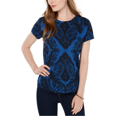 Lucky Brand Womens Printed Graphic T-Shirt blue L