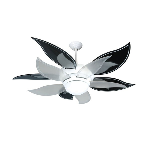 """Craftmade K10612 Bloom 52"""" 10 Blade Energy Star Indoor Ceiling Fan - Blades, Remote and Light Kit Included - White"""