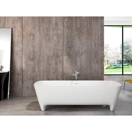 "Coronado 71"" Solid Surface Freestanding Bathtub"