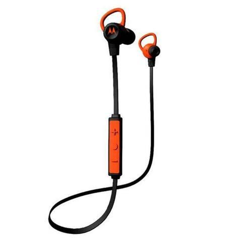 Motorola Verve Loop Super Light, Waterproof, Wireless Stereo Earbuds - Black/Orange