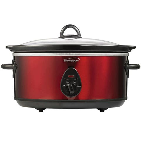 Brentwood SC-150R 6.5 Quart Red Slow Cooker Slow Cooker