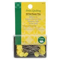 Size 32 50/Pkg - Dritz Quilting Flat Flower Pins