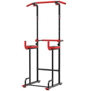 Link to Power Tower Dip Station Adjustable Pull Up Bar Strength Training - 54x41x11 inch Similar Items in Fitness & Exercise Equipment