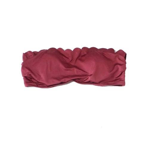Kate Spade Burgundy Red Womens Size Medium M Bikini Top Swimwear
