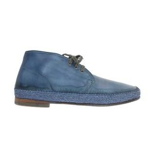 Dolce & Gabbana Dolce & Gabbana Blue Crust Leather Chukka Ankle Boots
