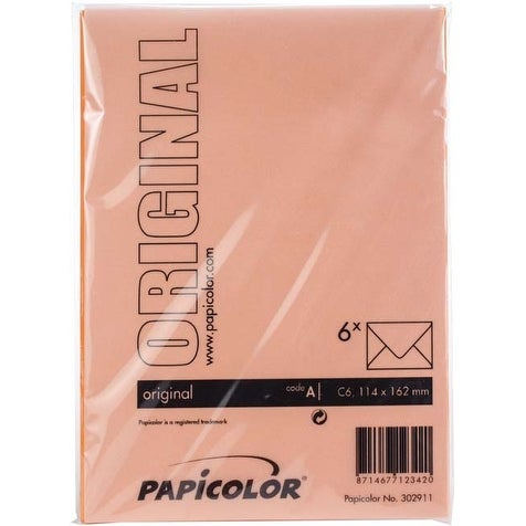 Orange - Papicolor A6 Envelopes 6/Pkg