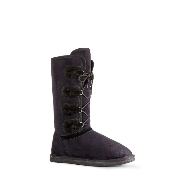 Just Fab Womens Eveleth Closed Toe Mid-Calf Cold Weather Boots