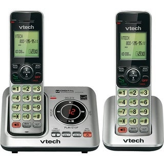 Vtech CS6629-2 Tri-Lingual Eco-Friendly Phone with 2 Cordless Handset