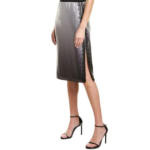 Jason Wu Charmeuse Silk Skirt - COAL GREY