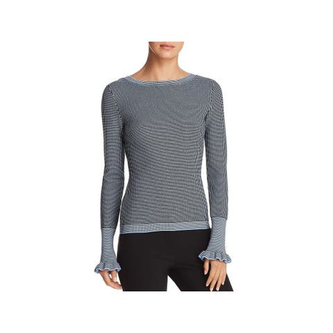 BOSS Hugo Boss Womens Firusa Pullover Sweater Ribbed Trim Boatneck