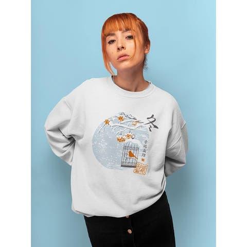 A Bird In Winter Sweatshirt -Image by Shutterstock