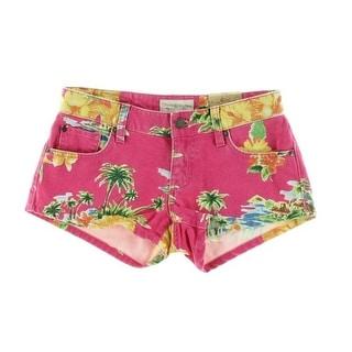 Ralph Lauren Womens Twill Floral Print Casual Shorts - 27