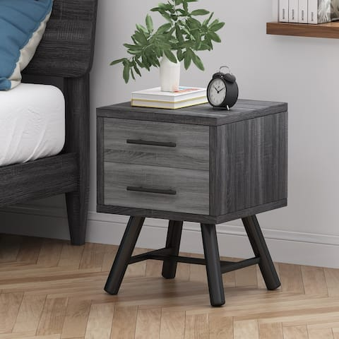 Burgoyne Mid-Century Modern Nightstand by Christopher Knight Home