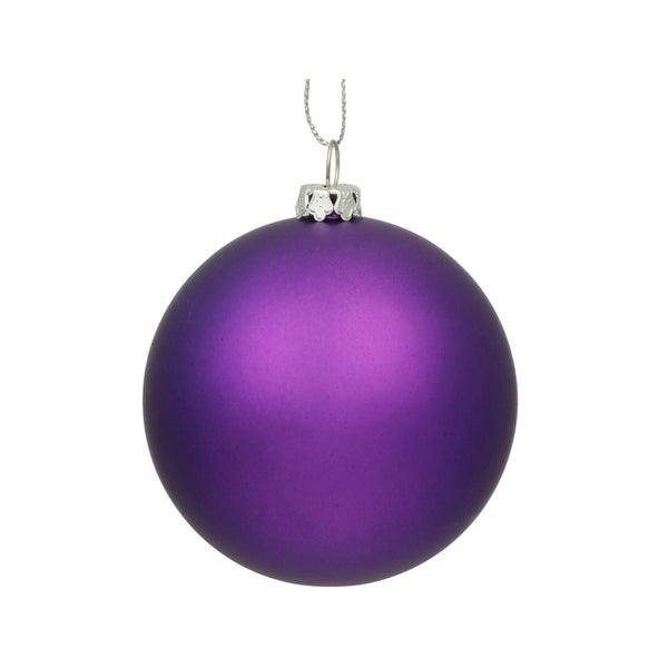 "Matte Purple UV Resistant Commercial Drilled Shatterproof Christmas Ball Ornament 15.75""(400mm)"