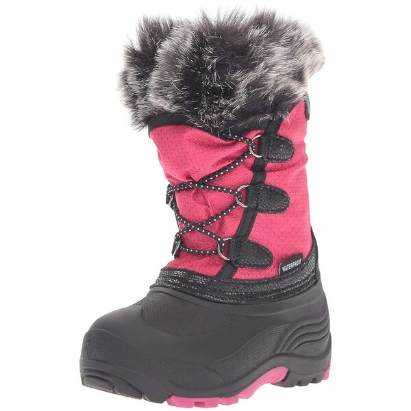 349cd708f777 Shop Kids Kamik Girls Powdery Fabric Mid-Calf Pull On Snow Boots ...
