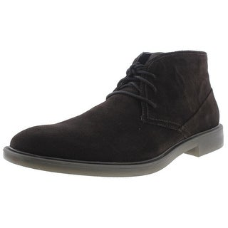 Calvin Klein Mens Ulysses Suede Lace Up Chukka Boots - 11 medium (d)