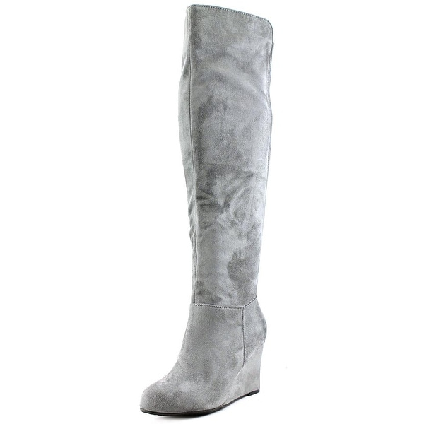 Chinese Laundry Unbelievable Women Feather Grey Boots