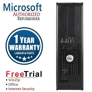 Refurbished Dell OptiPlex 745 SFF Intel Core 2 Duo E6300 1.86G 4G DDR2 160G DVD Win 7 Pro 64 Bits 1 Year Warranty - Black