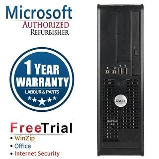 Refurbished Dell OptiPlex 755 SFF Intel Core 2 Duo E6550 2.33G 4G DDR2 160G DVD Win 7 Home 64 Bits 1 Year Warranty - Black