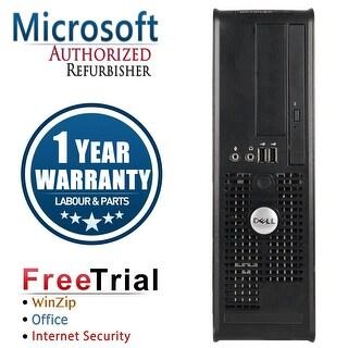 Refurbished Dell OptiPlex 755 SFF Intel Core 2 Duo E7600 3.0G 4G DDR2 160G DVD WIN 10 Pro 64 Bits 1 Year Warranty - Black
