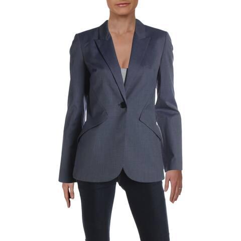 Elie Tahari Womens Allegra One-Button Blazer Suit Separate Business - Blue - 4
