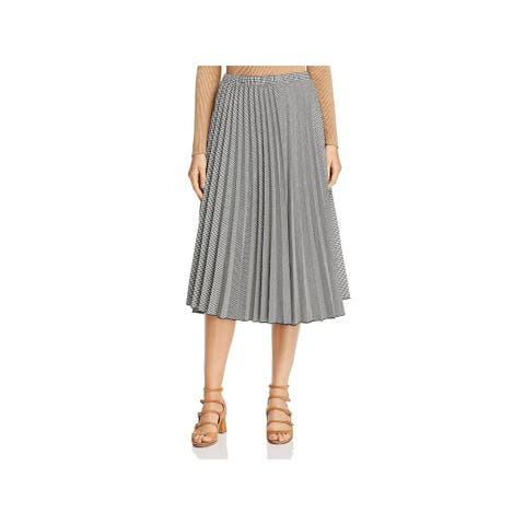 Donna Karan Womens A-Line Skirt Pleated Midi