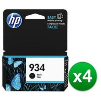 HP 934 Black Original Ink Cartridge (C2P19AN) (4-Pack)
