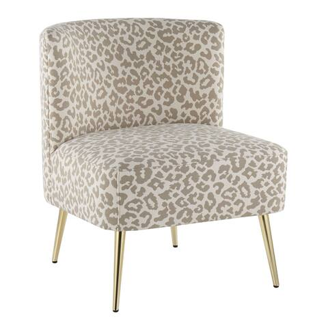 Silver Orchid Harding Leopard Print Slipper Chair