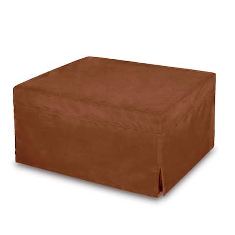 Memory Foam Sleeper Futon Ottoman Bed with Microfiber Cover