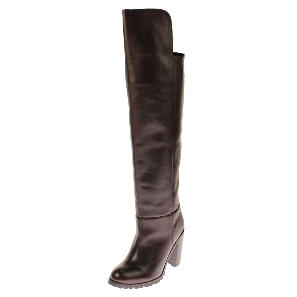 Seychelles Womens Alexandrite Over-The-Knee Boots Leather Stacked - Thumbnail 0