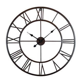 Link to The Gray Barn Roman Round Wall Clock with Distressed Finish Similar Items in Decorative Accessories