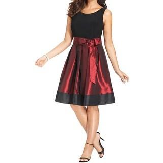 SL Fashions Womens Plus Party Dress Bow Detail Pleated (Option: 16w)