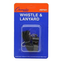 (20 Ea) Plastic Whistle And Lanyard