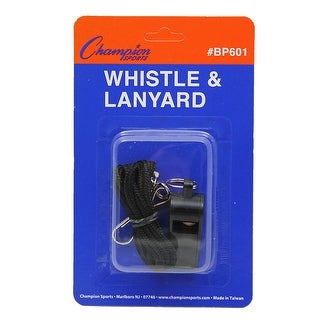 Plastic Whistle And Lanyard