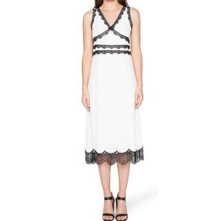 Willow & Clay Black Womens Small Lace Trim Sheath Dress