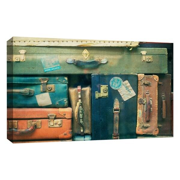 "PTM Images 9-126774 PTM Canvas Collection 10"" x 8"" - ""Vintages Suitcases"" Giclee Entertainment Art Print on Canvas"
