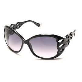 John Galliano Women's Large Frame Cutout Sunglasses Black - Small