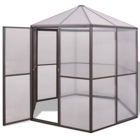 "vidaXL Greenhouse Aluminium 94.5""x83""x91.3"""